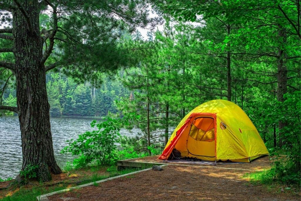 A campsite in Voyageurs National Park, Minnesota.