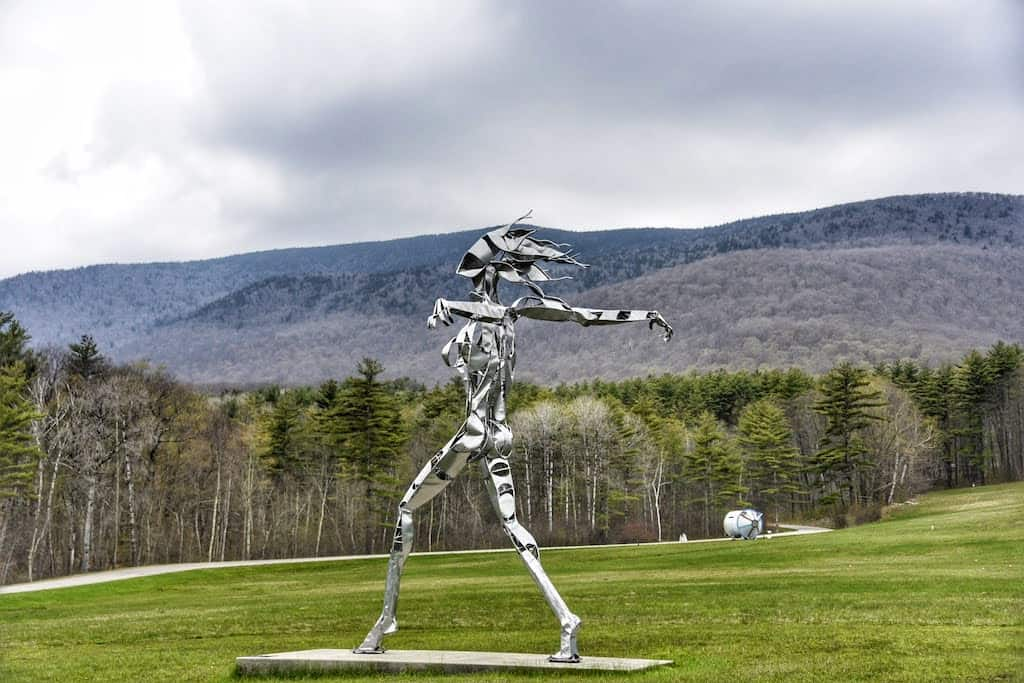 An outdoor sculpture in Manchester Vermont at the Southern Vermont Arts Center.