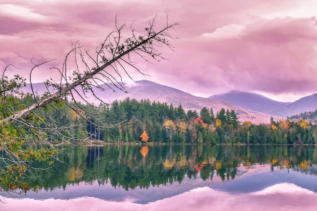 Heart Lake in Lake Placid during the fall foliage season. Copyright: Tara Schatz