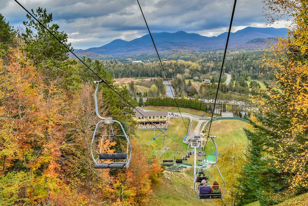 The Olympic Jumping Complex in Lake Placid, New York from the gondola.