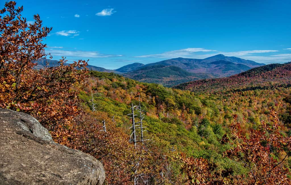 The view from the top of Owl's Head Mountain near Keene, New York.