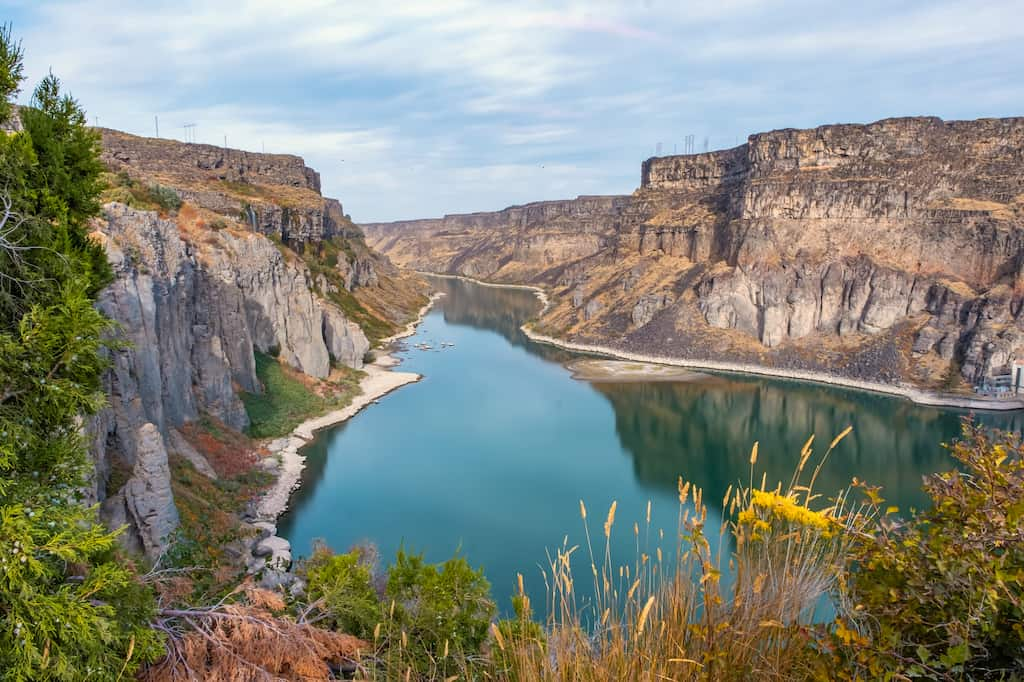 A view of the Snake River Canyon from Shoshone Falls Park. Photo credit: DepositPhotos