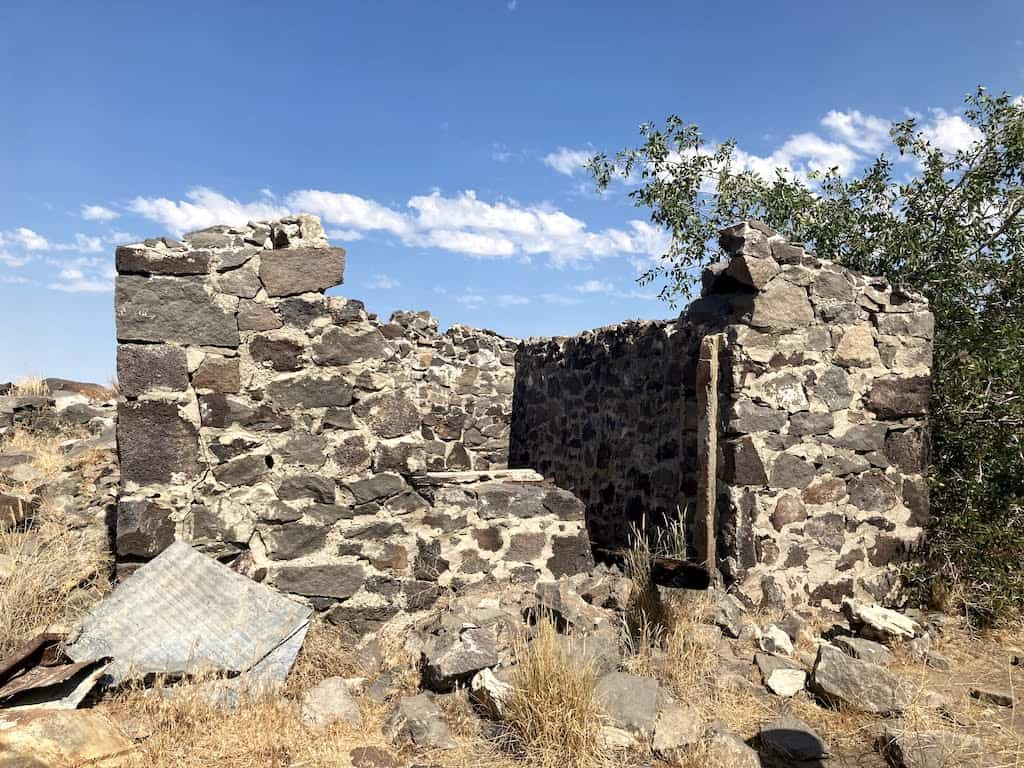 The remnants of the Urie Homestead in Twin Falls, Idaho.