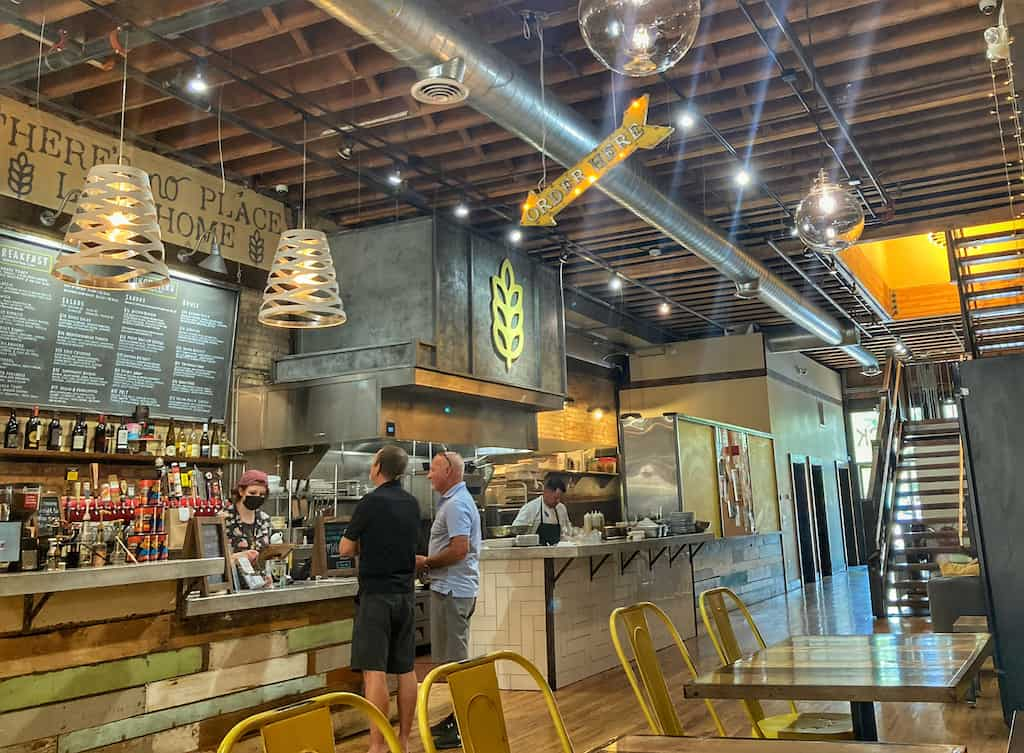 The inside of Yellow Brick Cafe in downtown Twin Falls, Idaho.