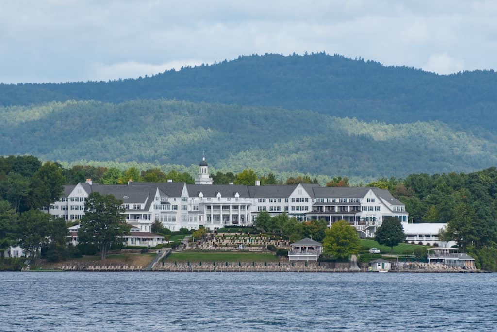 A view of the Sagamore Hotel in Bolton Landing, New York.