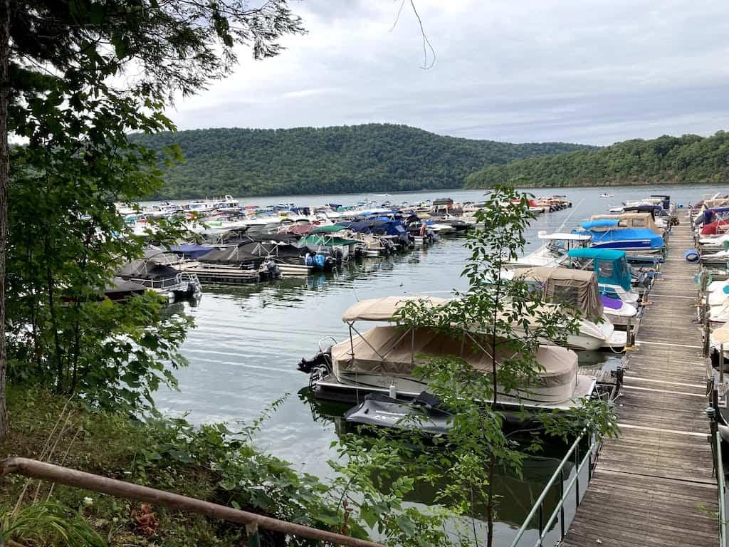 The Lake Raystown Resort Marina in Entriken, PA.