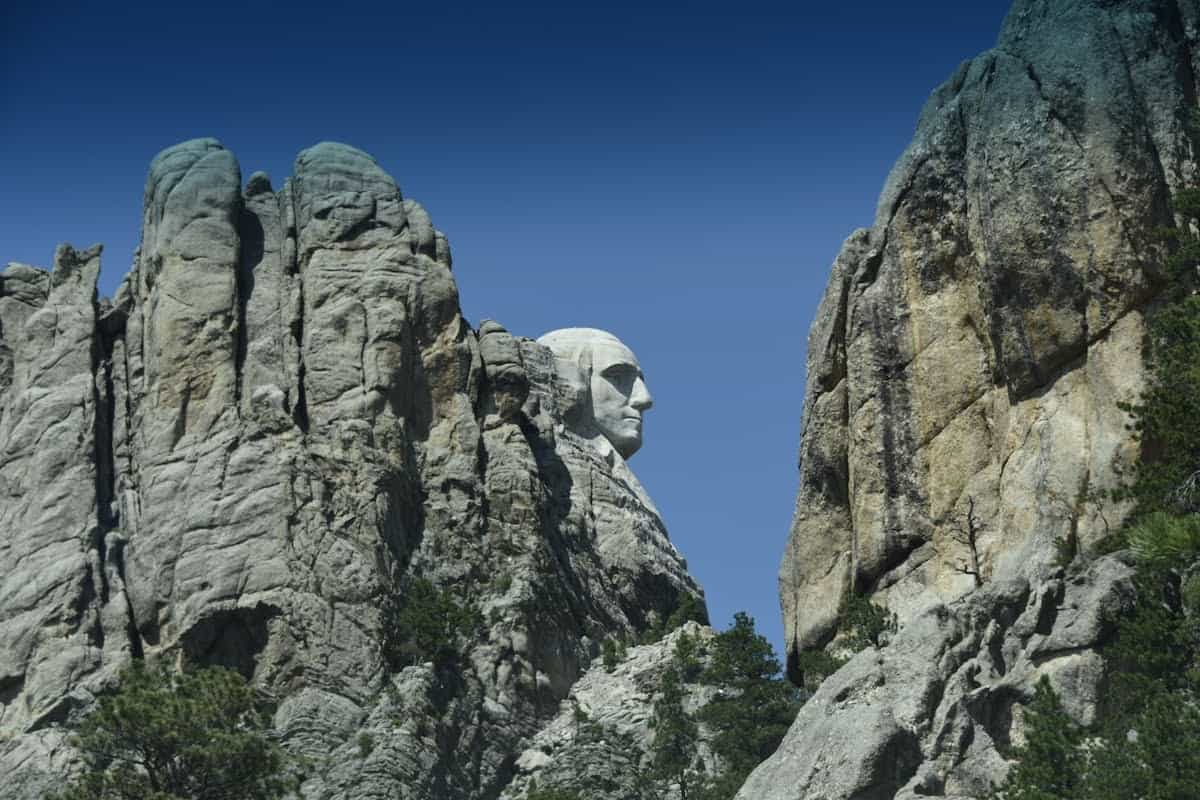 George Washington as seen from Route 244 in the Black Hills.