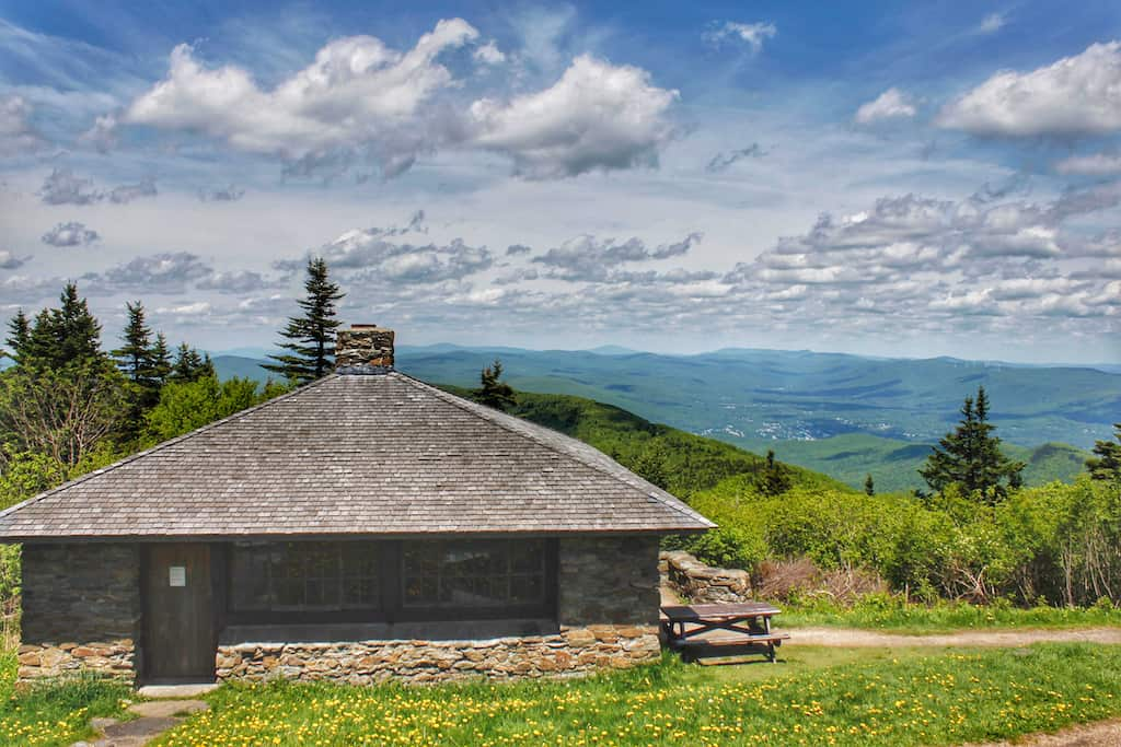 Summer view from the top of Mt. Greylock in the Berkshires of Massachusetts.