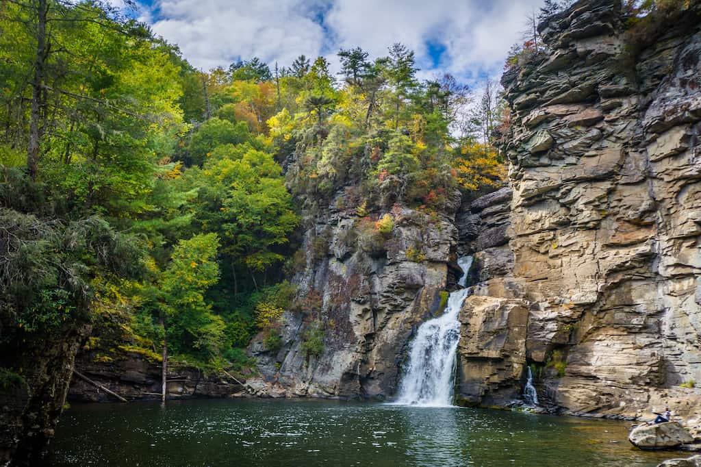 Linville Falls, along the Blue Ridge Parkway in North Carolina.